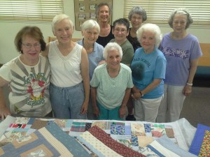 Members of Peacemakers quilting group at Peace Lutheran Church