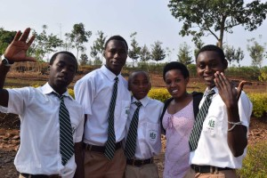 Students at Rwamagana Lutheran School.