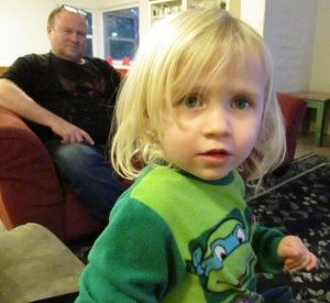 Lanaya Campbell, 2, has been homeless all her short life, but the family recently moved into an apartment, with help from the Salvation Army's Booth Family Center.