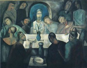 """""""The Last Supper of Jesus"""" by Andre Derain. Courtesy Wikiart. PEACE's Maundy Thursday service is at 7 p.m. Thursday, April 13."""