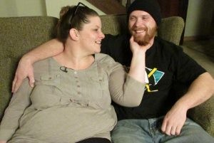 """I feel good about where I am now,"" said Keith McDermid, 26, right, at the home he shares with his wife, Kayla Sylva, 28, and other people transitioning from homelessness to stability – thanks to the rapid rehousing program at Hospitality House, Grass Valley's homeless shelter. The ""Leap of Faith"" matching fund drive supports that work."