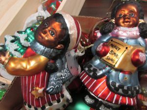 These African-American carolers are among the specialty items available at PEACE's Christmas rummage sale, starting Sunday, Nov. 19.