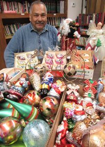 Hundreds of vintage & specialty Christmas ornaments and other holiday decorations will be offered at PEACE's rummage sale.