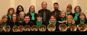 Members of Tintabulations, a high-energy, Reno-based handbell ensemble, perform in a free concert at 6 p.m. Sunday, July 1, at Peace Lutheran Church, in Grass Valley.