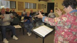 Grass Valley Male Voice Choir rehearsal