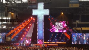 "Pastor Eileen attended the 2015 ELCA Youth Gathering, ""Rise Up!,"" in Detroit."