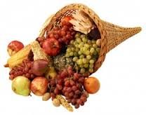 The cornucopia -- a symbol of Thanksgiving -- signifies overflowing blessings and abundance. Give thanks with us at PEACE!