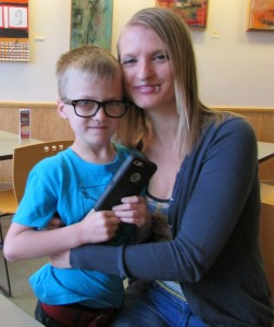 Brittany Kerr, 30, and her son Athan, 8, are among the homeless people offered stability at the Salvation Army's Booth Family Center near Grass Valley.