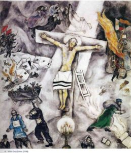 "Good Friday service is at 7pm at PEACE Lutheran Church. Marc Chagall painted ""The White Crucifixion"" in 1938. Courtesy WikiArt."