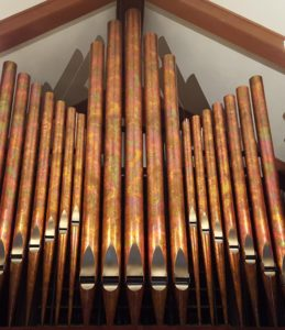 A new digital organ at PEACE could also accommodate real pipes.