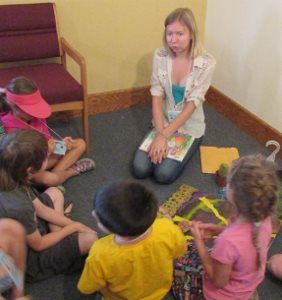 PEACE Lutheran Church participates each summer in Earthcare Day Camp during the third week in July in downtown Grass Valley.