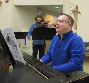 PEACE's staff organist, Walt Strony, also plays piano and accompanies other musicians. He'll play during the Texas Hurricane Fundraising Concert at 4pm Sunday. Sept. 4, at PEACE Lutheran Church.