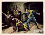 "Douglas Fairbanks, Marguerite De La Motte and Noah Beery Sr. defined the genre of action-hero/romance films in the 1920 ""The Mark of Zorro."""