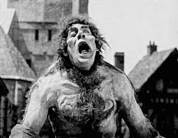 "Lon Chaney stars in ""Hunchback"" as the suffering and heroic Quasimodo."