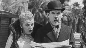 """Vivien Oakland and Charley Chase portray spouses with protuberant features in a hilarious story of love, flirtation and surprise identities in the 1926 comedy, """"Mighty Like a Moose."""""""