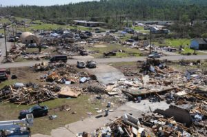 Aerial view of March 2019 tornado damage in Alabama. Courtesy FEMA.gov
