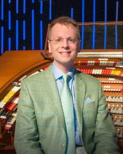 Theatre organist Simon Gledhill, of England, performs at 4pm Sunday, June 23, at PEACE Lutheran Church.