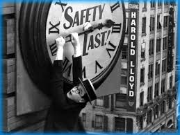 """Silent Movies with Walt Strony presents """"Safety Last,"""" the hilarious Harold Lloyd film, at 4pm Sunday, July 28."""