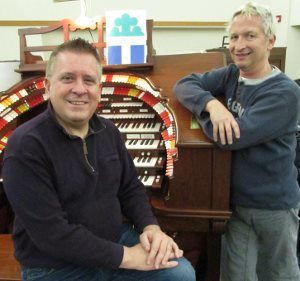 "Keyboard magicians Walt Strony and Thomas Greathouse perform on two organs and a grand piano in the ""Dueling Organs... and more!"" concert at 4 p.m. Sunday, Nov. 24, at PEACE Lutheran Church"